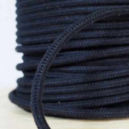 """Sash Cord No 12 3/8"""" Black (600' Spool)"""