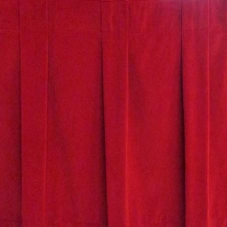 8' Box Pleat Plateau Velour Stage Skirt