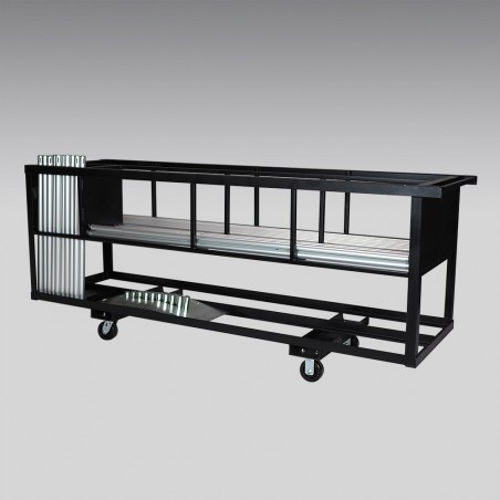 25 Booth Combo Pipe and Drape Cart