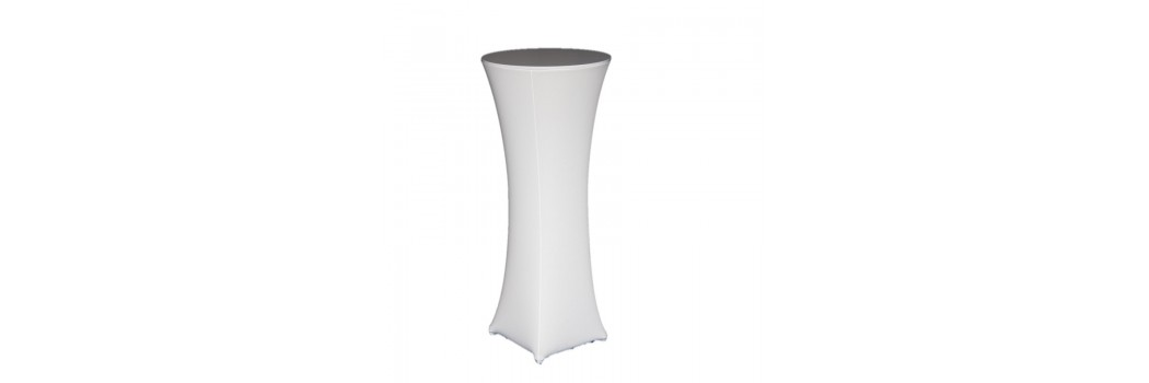 Pedestal and Cocktail Stretch Table Covers
