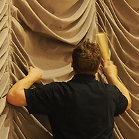 Cleaning Stage Curtains